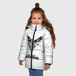 Куртка зимняя для девочки Орел цвета 3D-черный — фото 2