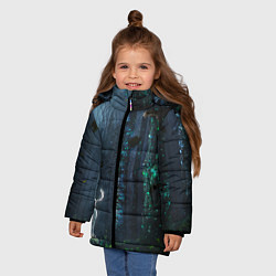 Куртка зимняя для девочки Олень цвета 3D-черный — фото 2