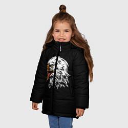 Детская зимняя куртка для девочки с принтом Орёл, цвет: 3D-черный, артикул: 10276237906065 — фото 2