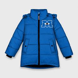 Куртка зимняя для девочки Университет Монстров цвета 3D-черный — фото 1