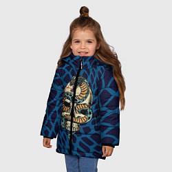 Куртка зимняя для девочки Snake&Skull цвета 3D-черный — фото 2