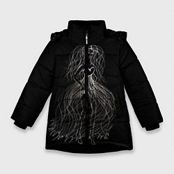 Куртка зимняя для девочки Девушка - призрак цвета 3D-черный — фото 1