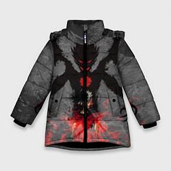 Куртка зимняя для девочки Черный клевер цвета 3D-черный — фото 1