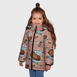Куртка зимняя для девочки Шоколадка-балеринка цвета 3D-черный — фото 2