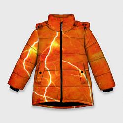 Куртка зимняя для девочки Молния цвета 3D-черный — фото 1