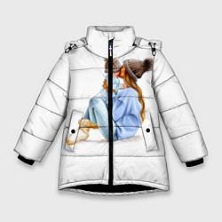 Куртка зимняя для девочки Самая лучшая мама цвета 3D-черный — фото 1
