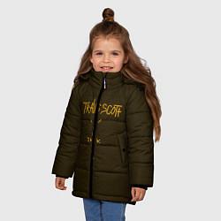 Куртка зимняя для девочки Travis Scott LOGO цвета 3D-черный — фото 2