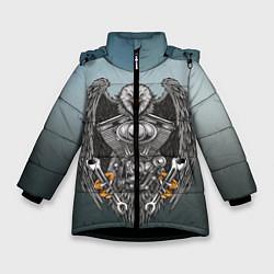 Куртка зимняя для девочки Master цвета 3D-черный — фото 1