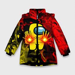 Куртка зимняя для девочки Маг огня Among us цвета 3D-черный — фото 1