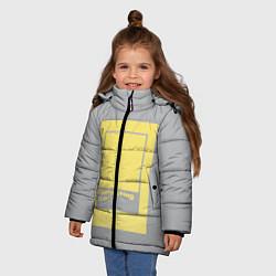 Куртка зимняя для девочки Illuminating 13-0647 цвета 3D-черный — фото 2