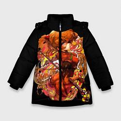 Куртка зимняя для девочки Аска Евангелион цвета 3D-черный — фото 1