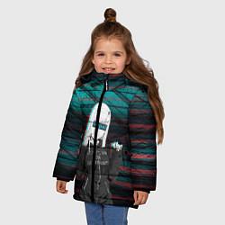 Куртка зимняя для девочки Zero Two Senpai цвета 3D-черный — фото 2