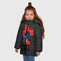 Куртка зимняя для девочки Евангилион цвета 3D-черный — фото 2