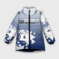 Куртка зимняя для девочки RUST РАСТ цвета 3D-черный — фото 1