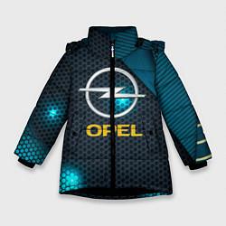 Куртка зимняя для девочки OPEL ОПЕЛЬ цвета 3D-черный — фото 1