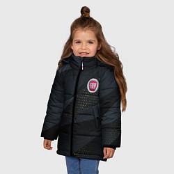 Детская зимняя куртка для девочки с принтом FIAT ФИАТ S, цвет: 3D-черный, артикул: 10284909706065 — фото 2
