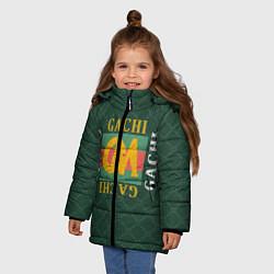 Куртка зимняя для девочки GACHI GUCCI цвета 3D-черный — фото 2