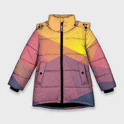 Куртка зимняя для девочки Векторный Египед цвета 3D-черный — фото 1