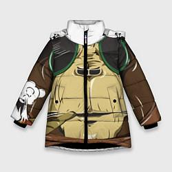 Куртка зимняя для девочки Cool обезьяна цвета 3D-черный — фото 1