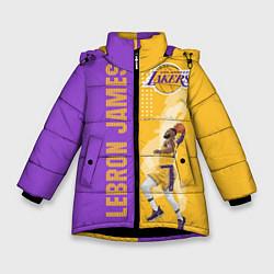 Куртка зимняя для девочки Леброн NBA цвета 3D-черный — фото 1