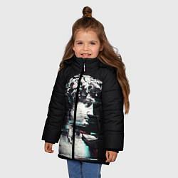 Куртка зимняя для девочки David Glitch цвета 3D-черный — фото 2