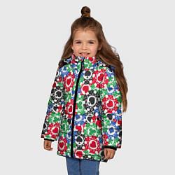 Куртка зимняя для девочки Покер цвета 3D-черный — фото 2