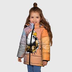 Куртка зимняя для девочки Орел 3D цвета 3D-черный — фото 2