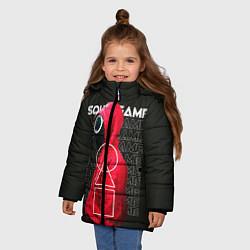 Куртка зимняя для девочки Сыграй в Кальмара цвета 3D-черный — фото 2