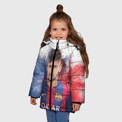 Куртка зимняя для девочки Neymar FCB цвета 3D-черный — фото 2
