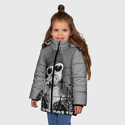 Куртка зимняя для девочки Кобейн в очках цвета 3D-черный — фото 2