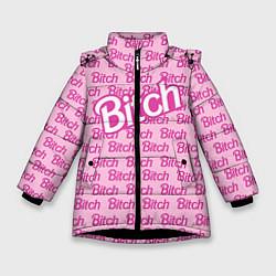 Куртка зимняя для девочки Bitch Barbie цвета 3D-черный — фото 1