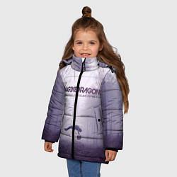 Детская зимняя куртка для девочки с принтом Imagine Dragons: Silence, цвет: 3D-черный, артикул: 10064383706065 — фото 2