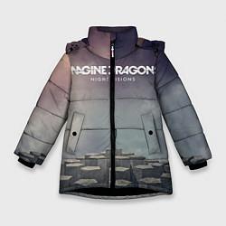 Куртка зимняя для девочки Imagine Dragons: Night Visions цвета 3D-черный — фото 1