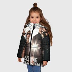 Куртка зимняя для девочки Imagine Dragons цвета 3D-черный — фото 2