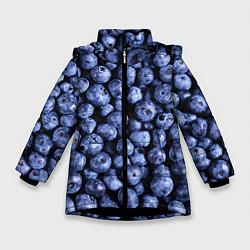 Куртка зимняя для девочки Черника цвета 3D-черный — фото 1