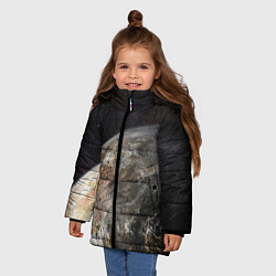 Куртка зимняя для девочки Плутон цвета 3D-черный — фото 2