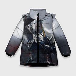 Куртка зимняя для девочки Геральт цвета 3D-черный — фото 1