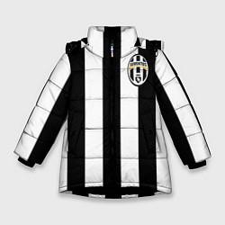 Куртка зимняя для девочки Juventus: Pirlo цвета 3D-черный — фото 1