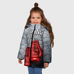 Куртка зимняя для девочки Boxing Russia цвета 3D-черный — фото 2
