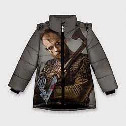 Куртка зимняя для девочки Флоки цвета 3D-черный — фото 1