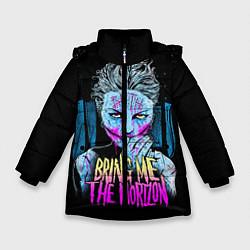 Детская зимняя куртка для девочки с принтом BMTH: Acid Girl, цвет: 3D-черный, артикул: 10073642606065 — фото 1