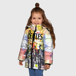 Куртка зимняя для девочки The Beatles: Colour Spray цвета 3D-черный — фото 2