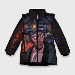 Куртка зимняя для девочки Emmett Lathrop Brown цвета 3D-черный — фото 1