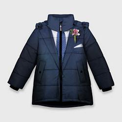Куртка зимняя для девочки Жених цвета 3D-черный — фото 1