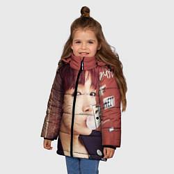 Куртка зимняя для девочки J-Hope цвета 3D-черный — фото 2