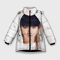 Детская зимняя куртка для девочки с принтом Jeon Jung Kook, цвет: 3D-черный, артикул: 10076888306065 — фото 1