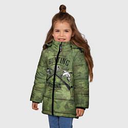 Куртка зимняя для девочки Hunting & Fishing цвета 3D-черный — фото 2
