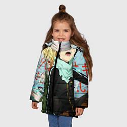Куртка зимняя для девочки Бездомный бог цвета 3D-черный — фото 2