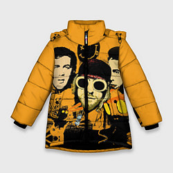 Куртка зимняя для девочки Группа Нирвана цвета 3D-черный — фото 1
