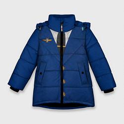 Куртка зимняя для девочки Китель цвета 3D-черный — фото 1
